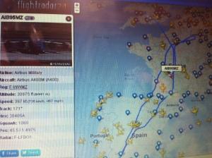 A400 is is chemtrailing....